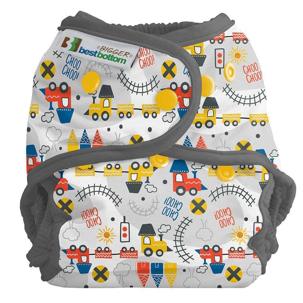 Best Bottom BIGGER All In Two Cloth Diaper Cover - All Aboard