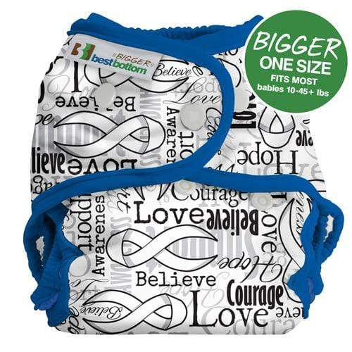 Best Bottom BIGGER All In Two Diaper Cover - Blue RIbbons