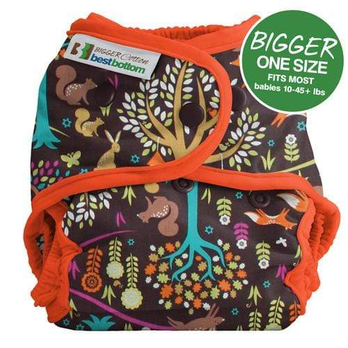 Best Bottom BIGGER All In Two Diaper Cover - Jewel Woods