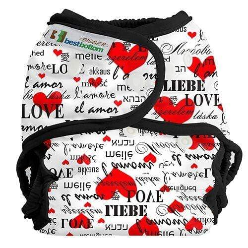 Best Bottom BIGGER All In Two Diaper Cover - Love Language