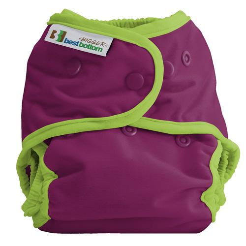 Best Bottom BIGGER All In Two Diaper Cover - Plum Pie