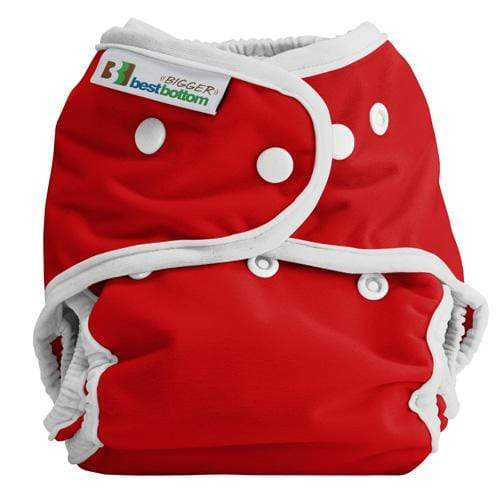 Best Bottom BIGGER All In Two Diaper Cover - Very Cherry