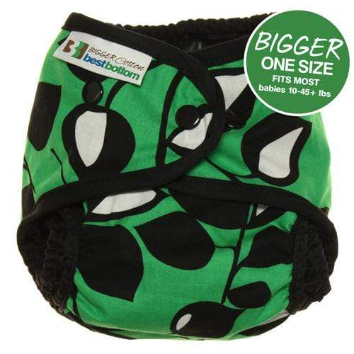Best Bottom BIGGER Cotton All In Two Diaper Cover - Laughing Leaf