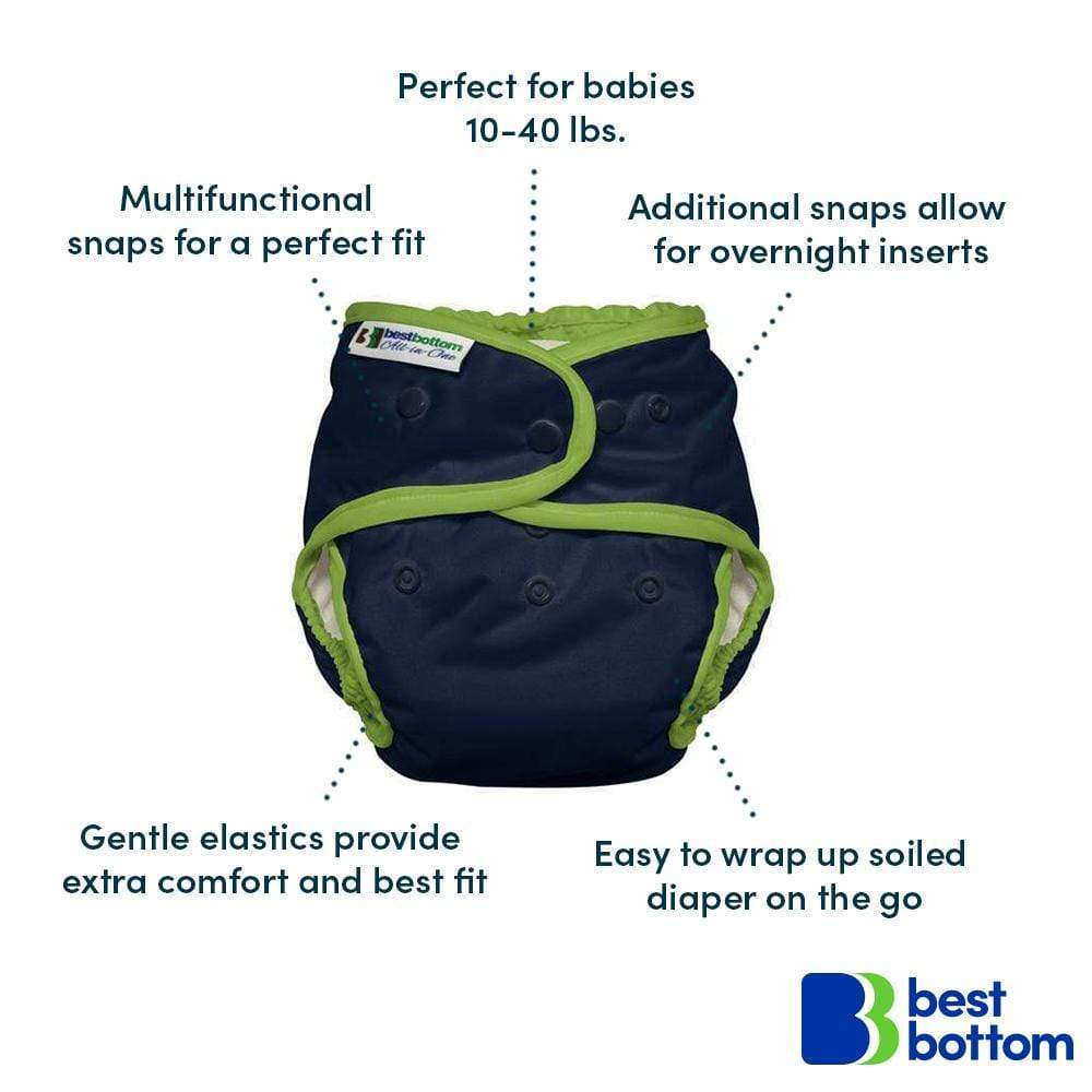 Best Bottom One Size All In One Cloth Diaper - Feline Fine