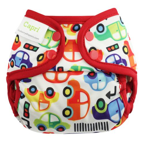 Blueberry Capri Newborn Diaper Cover - Cruisin Newborn