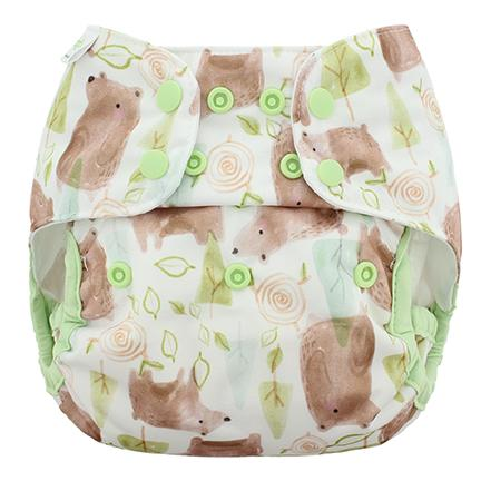 Blueberry & Me One Size Capri Diaper Cover - Grizzly One Size