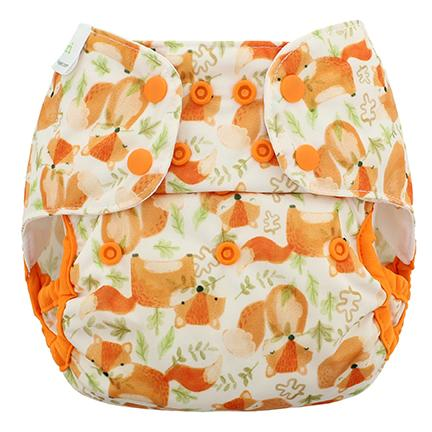 Blueberry & Me One Size Capri Diaper Cover - Red Fox One Size