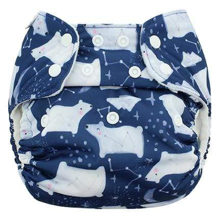 Blueberry & Me One Size Simplex Organic Cotton Diaper - Arctic Nights One Size