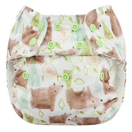 Blueberry & Me One Size Simplex Organic Cotton Diaper - Grizzly One Size