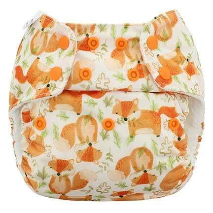 Blueberry & Me One Size Simplex Organic Cotton Diaper - Red Fox One Size