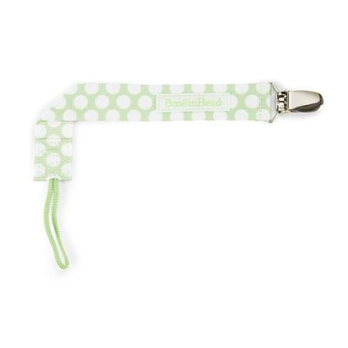 BooginHead PaciGrip Pacifier Holder - Delicate Dot Green