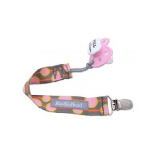 BooginHead PaciGrip Pacifier Holder - Peach Delight