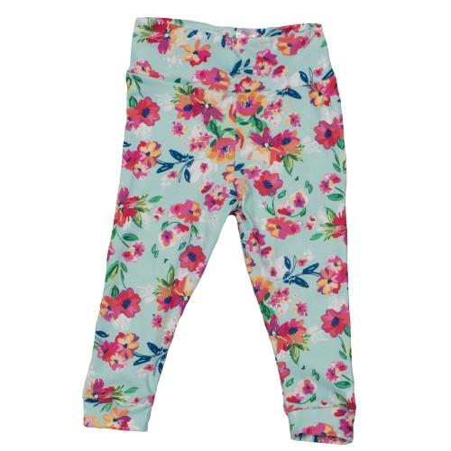 Bumblito Leggings - Aqua Floral