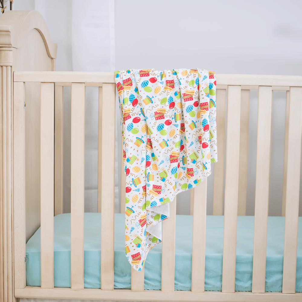 Bumblito Stretch Swaddle Set - Birthday Party