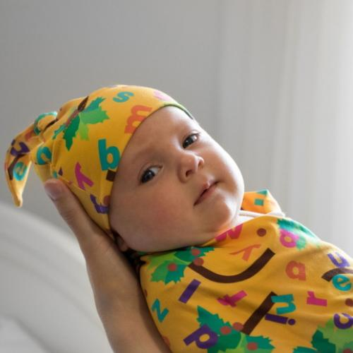 Bumblito Stretch Swaddle Set - Chicka Chicka Boom Boom ABC's