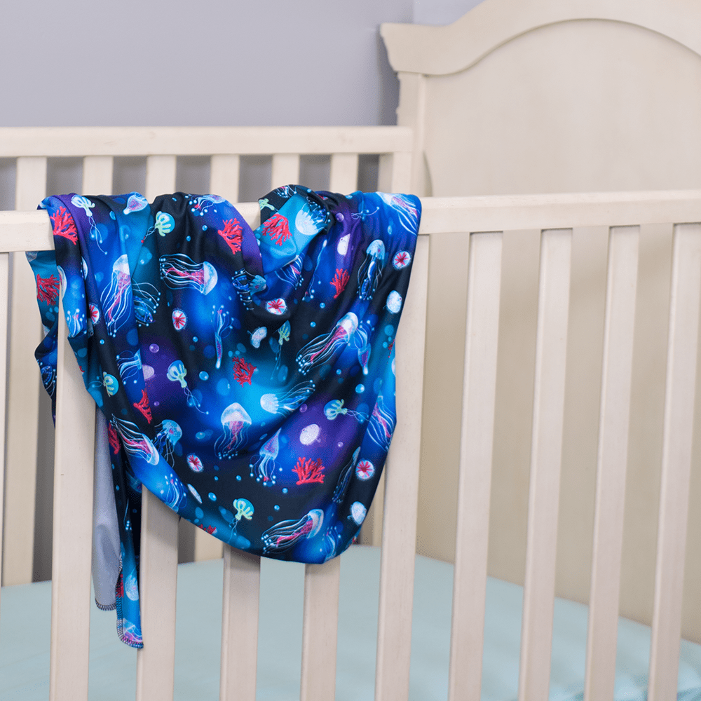 Bumblito Stretch Swaddle Set - Ocean Blooms