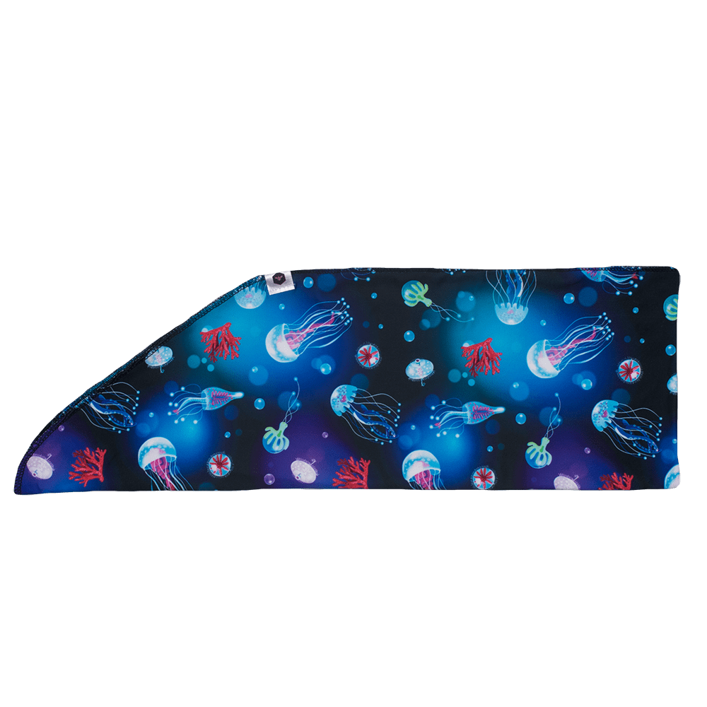 Bumblito Tie-On Headband - Ocean Blooms