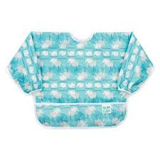 Bumkins Long Sleeved Bib - Whales Away