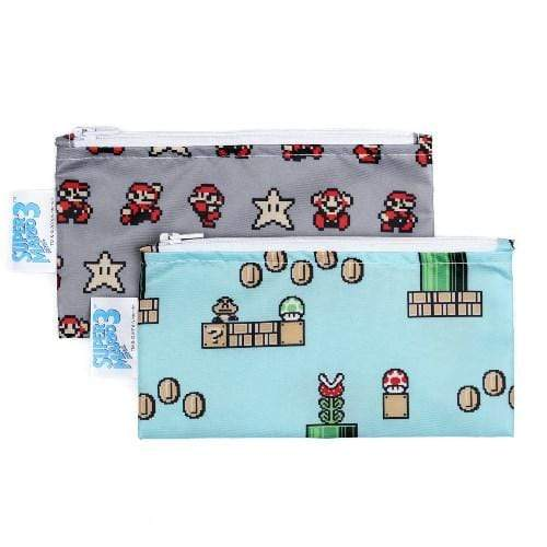 Bumkins Small Snack Bag 2 Pack - Mario 8-Bit Game