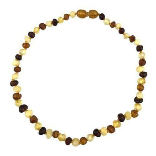 "Charlie Banana 11"" Amber Necklace - Baroque Polish Multi"