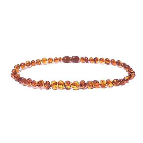 "Charlie Banana 13"" Amber Necklace - Baroque Raw Cognac"