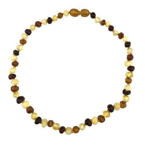 "Charlie Banana 13"" Amber Necklace - Baroque Raw Multi"