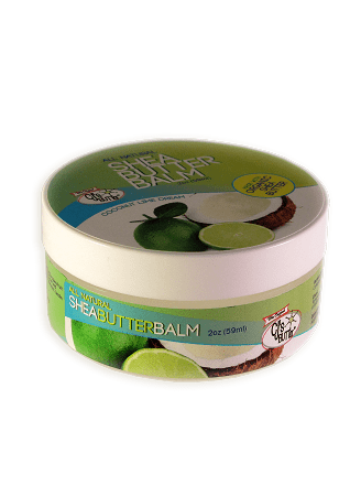 CJ's BUTTer Shea Butter Balm 2 oz Jar - Coconut Lime Dream Essential Oils