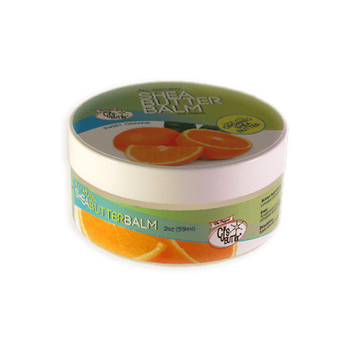 CJ's BUTTer Shea Butter Balm 2 oz Jar - Sweet Orange