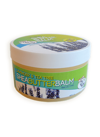 CJ's BUTTer Shea Butter Balm 6 oz Pot Body Butter - Lavender & Tea Tree Essential Oils