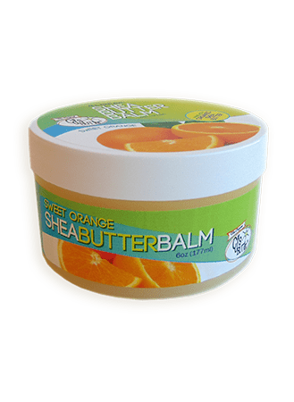 CJ's BUTTer Shea Butter Balm 6 oz Pot Body Butter - Sweet Orange
