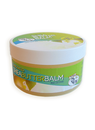 CJ's BUTTer Shea Butter Balm 6 oz Pot Body Butter - Unscented