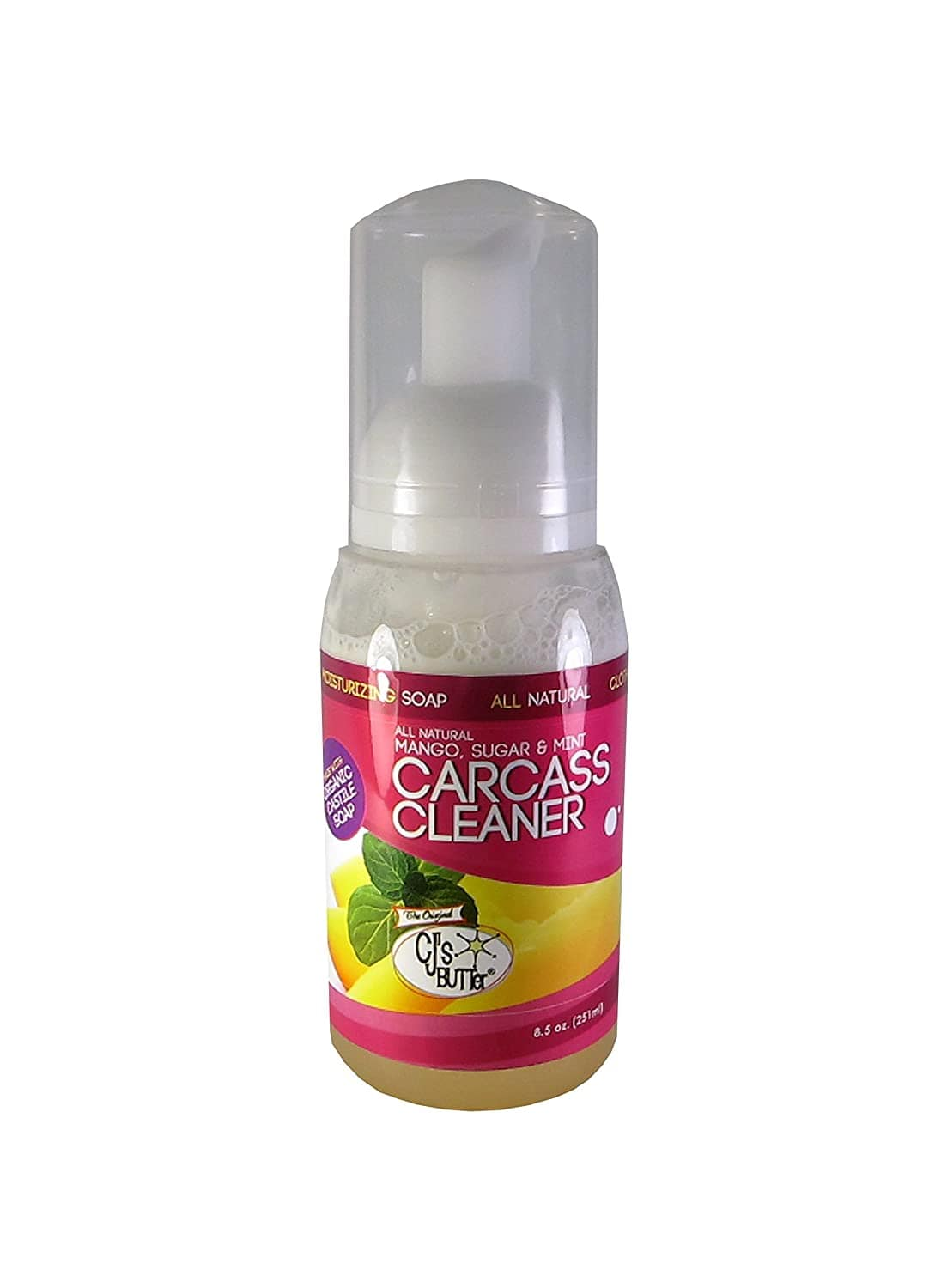 CJs Carcass Cleaner  8.5 oz-All Natural Mango, Sugar & Mint