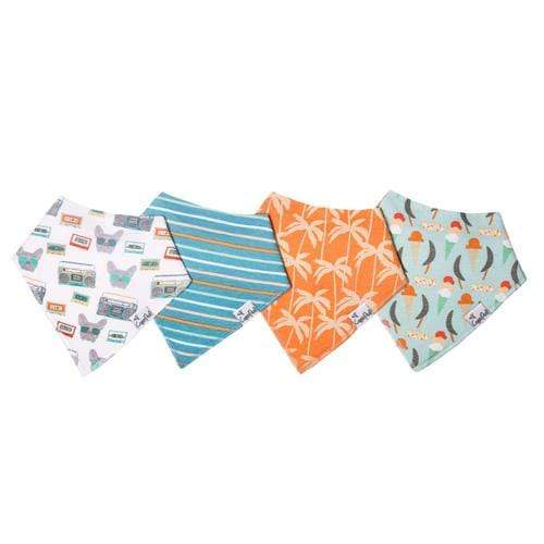 Copper Pearl Baby Bandana Bib Set - 4 Pack - Bruno