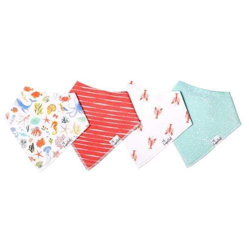Copper Pearl Baby Bandana Bib Set - 4 Pack - Nautical