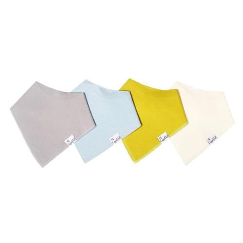 Copper Pearl Baby Bandana Bib Set - 4 Pack - Stone