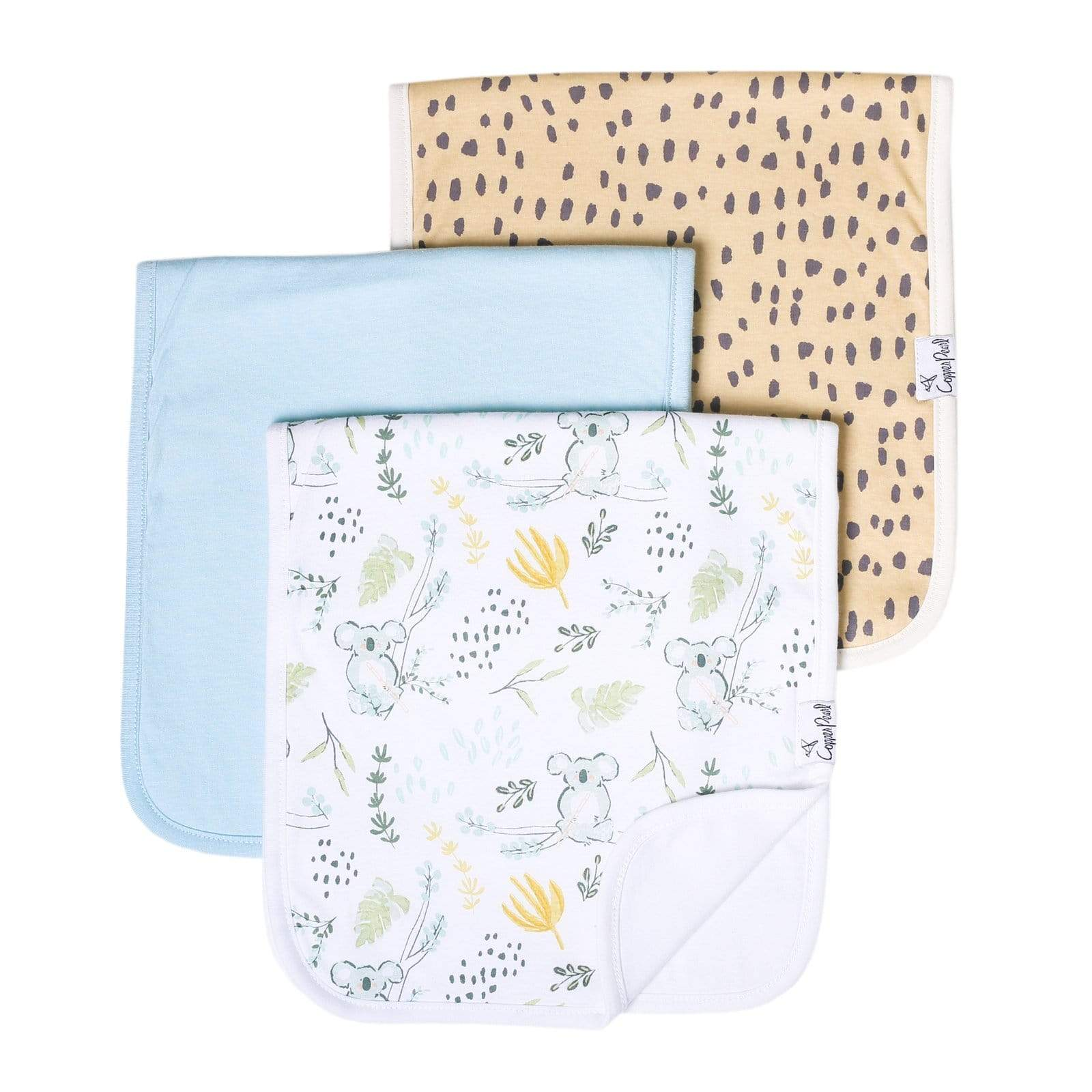 Copper Pearl Burp Cloth Set - 3 pack - Aussie