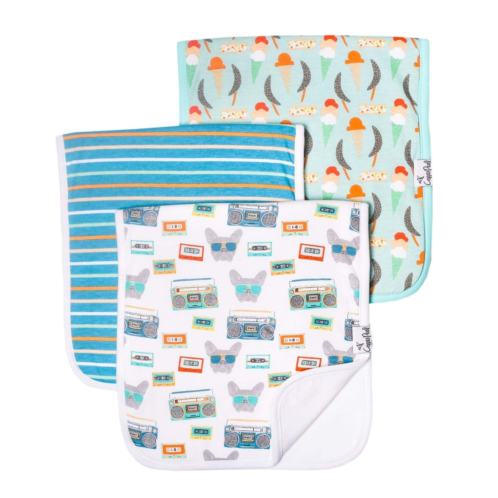 Copper Pearl Burp Cloth Set - 3 pack - Bruno