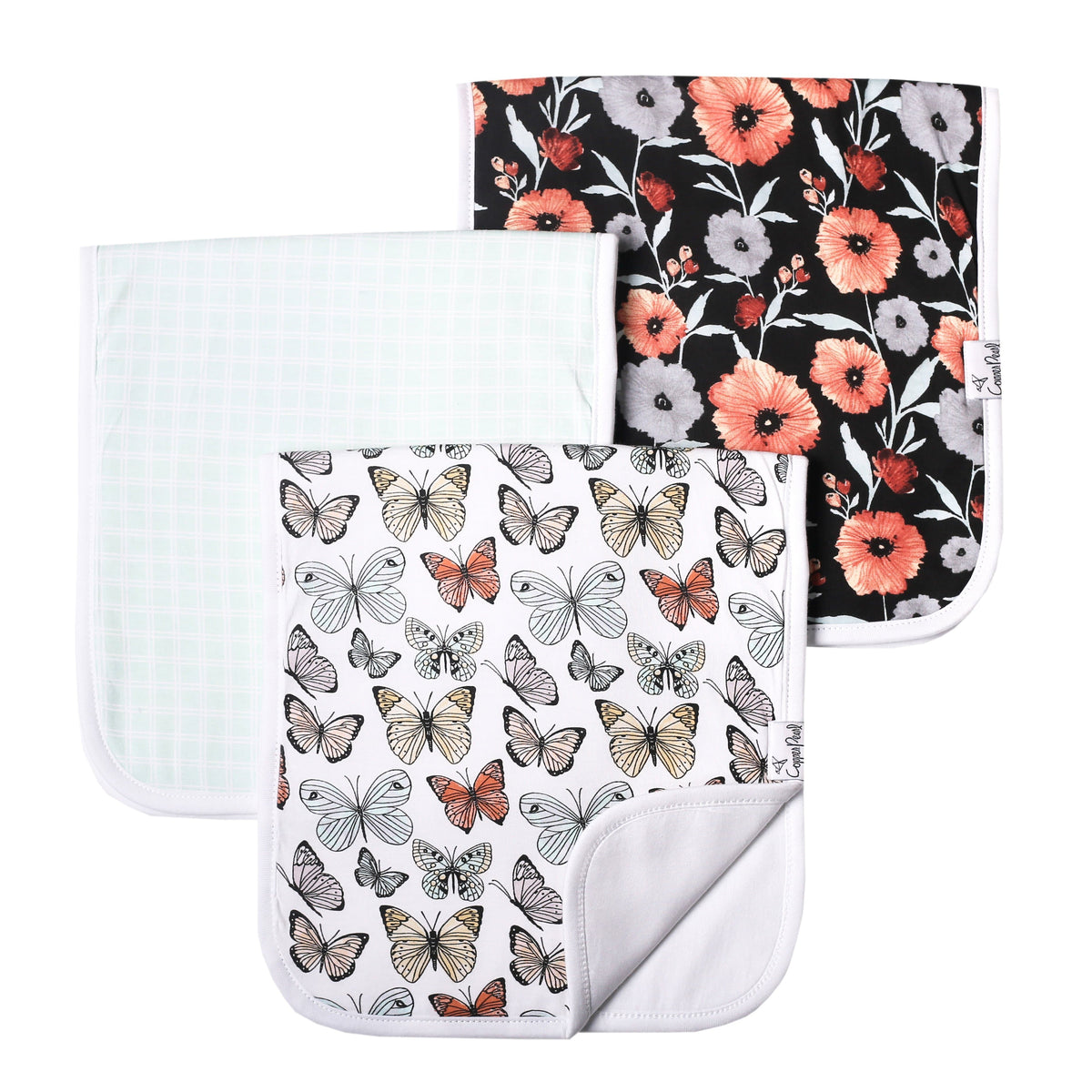 Copper Pearl Burp Cloth Set - 3 pack - Dot