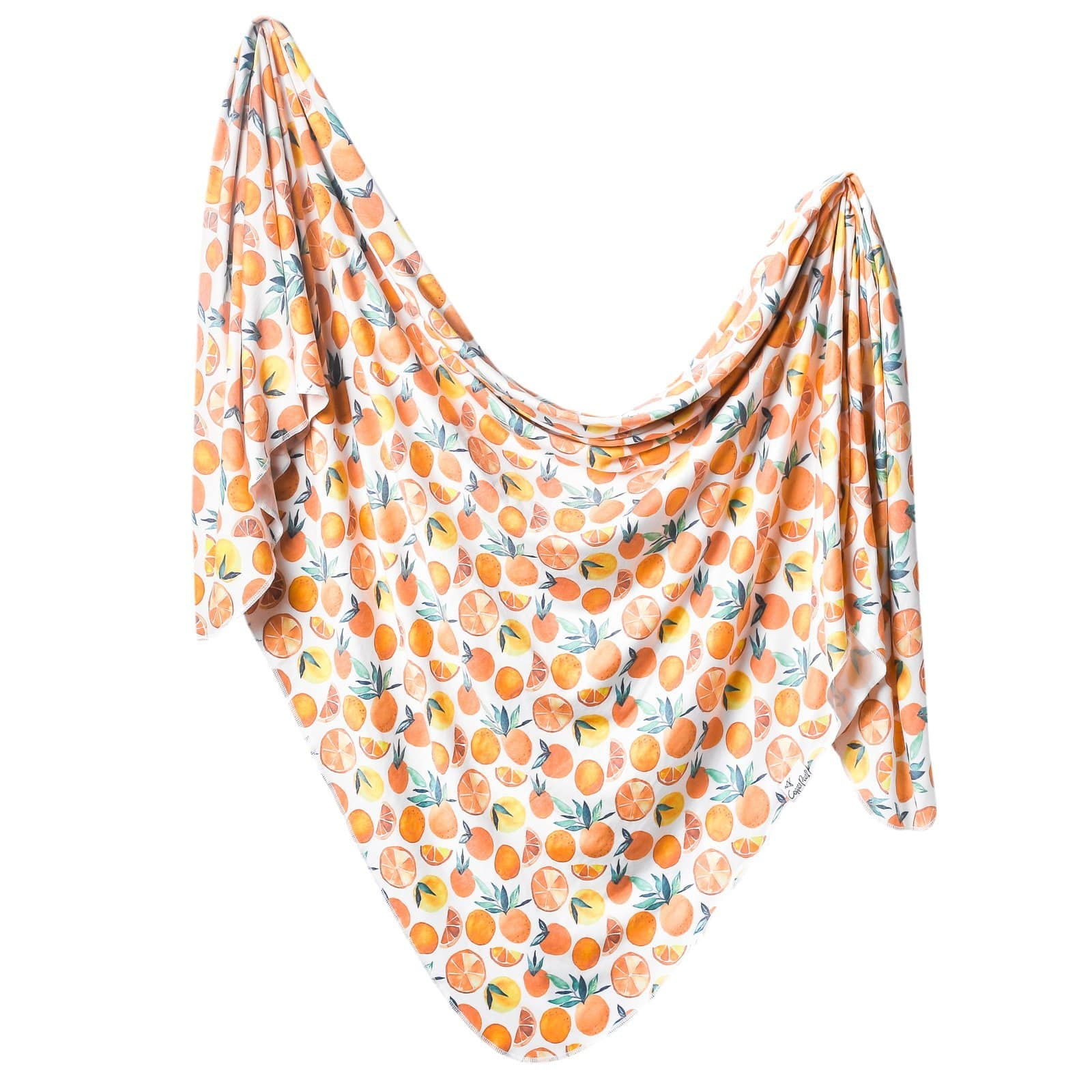 Copper Pearl Knit Swaddle Blanket - Citrus