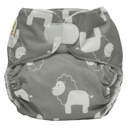 Diaper Safari One Size Hook and Loop Pocket Diaper - Gray Lion