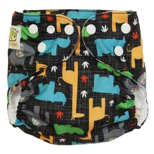 Diaper Safari One Size Hook and Loop Pocket Diaper - Savanna