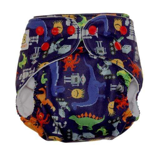 Diaper Safari One Size Snap Pocket Diaper - Game Time