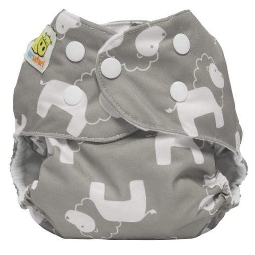 Diaper Safari One Size Snap Pocket Diaper - Gray Lion