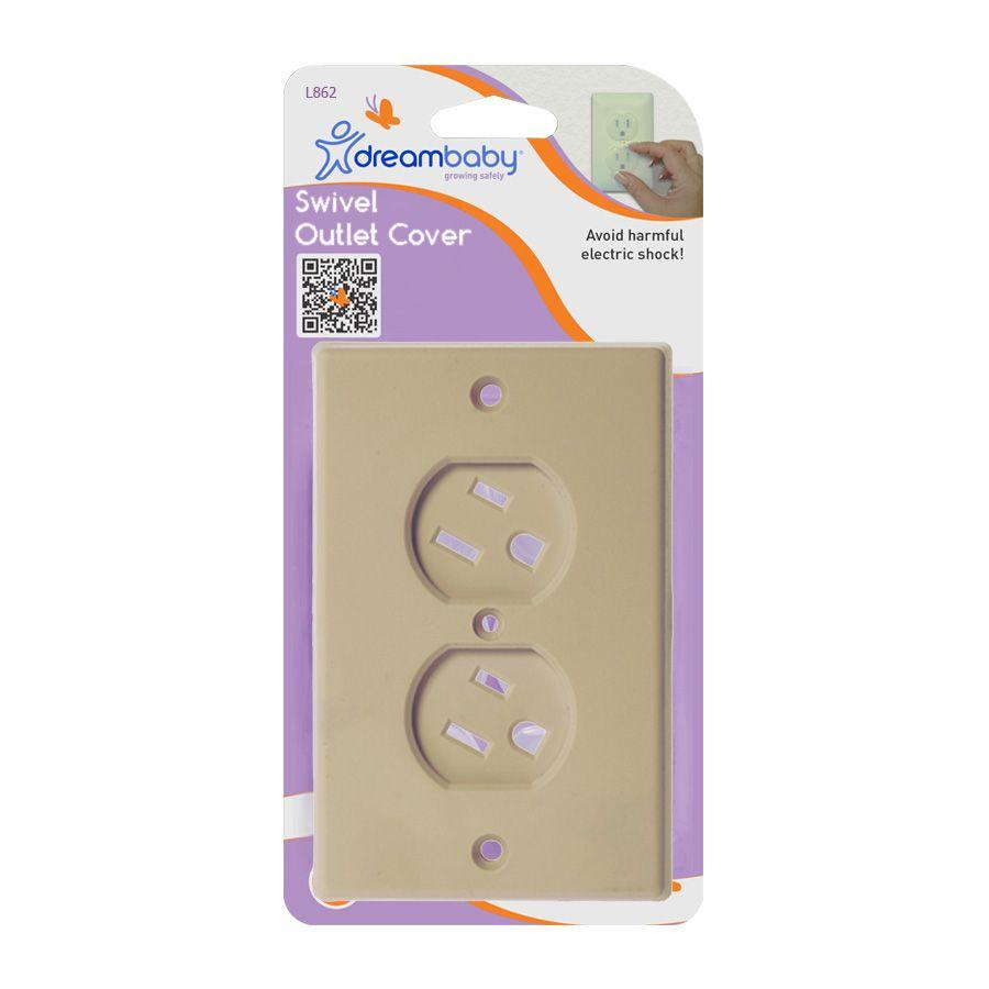 DreamBaby Swivel Outlet Cover- Beige #862