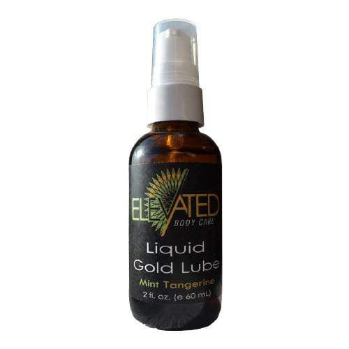 Elevated Lover's Liquid Gold Lube 2 oz - Mint Tangerine