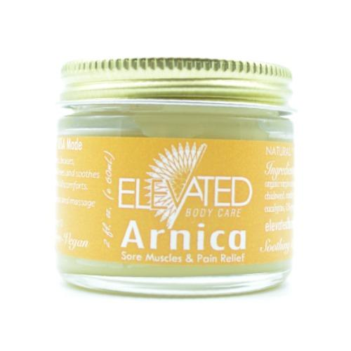 Elevated Taylor's Arnica Natural Sore Muscle Relief 2 oz Glass Jar