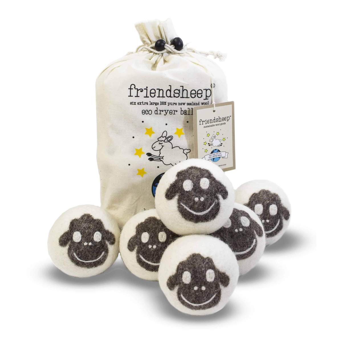 Friendsheep Eco Dryer Balls Pack of 6 - Flock of Friends