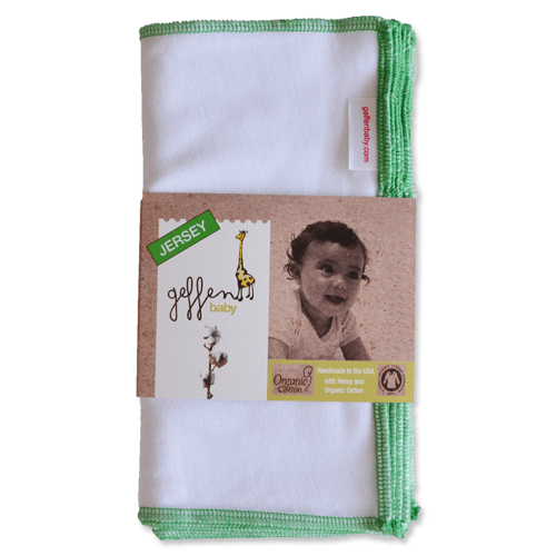 Geffen Baby Hemp Cotton Jersey Wipes 10 Pack