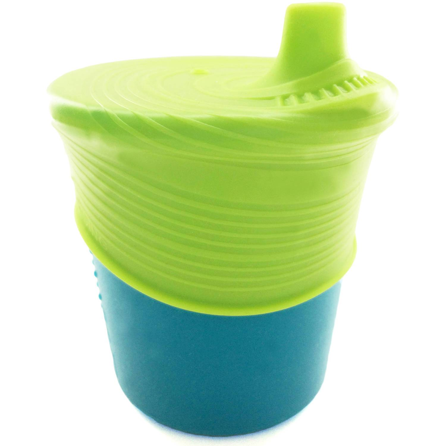 GoSili 8 oz Universal Sippy Cup - Lime/Teal