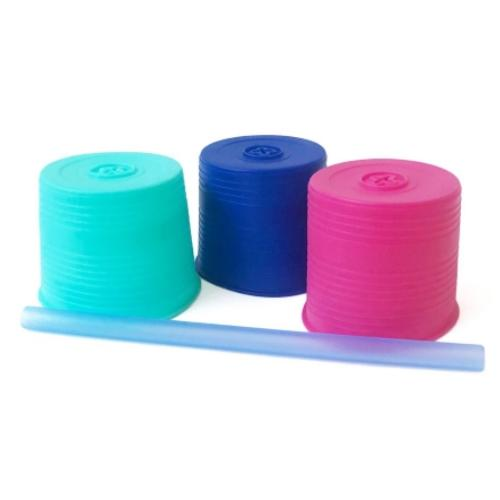 Gosili Stretchy Straw Tops 3 pack Straw - Sea/Cobalt/Berry